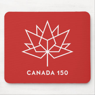 Canada 150 Official Logo - Red and White Mouse Mat