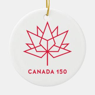 Canada 150 Official Logo - Red Outline Christmas Ornament