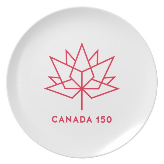 Canada 150 Official Logo - Red Outline Plate