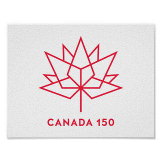 Canada 150 Official Logo - Red Outline Poster