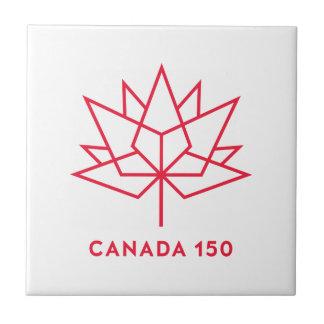 Canada 150 Official Logo - Red Outline Tile