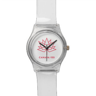 Canada 150 Official Logo - Red Outline Watch