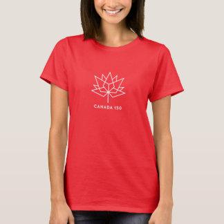 Canada 150 Official Logo - White Outline T-Shirt