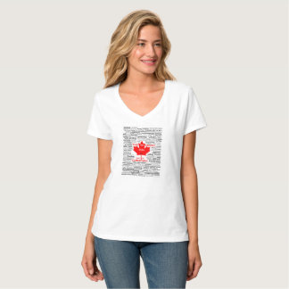 Canada 150 Play List Women's T-shirt