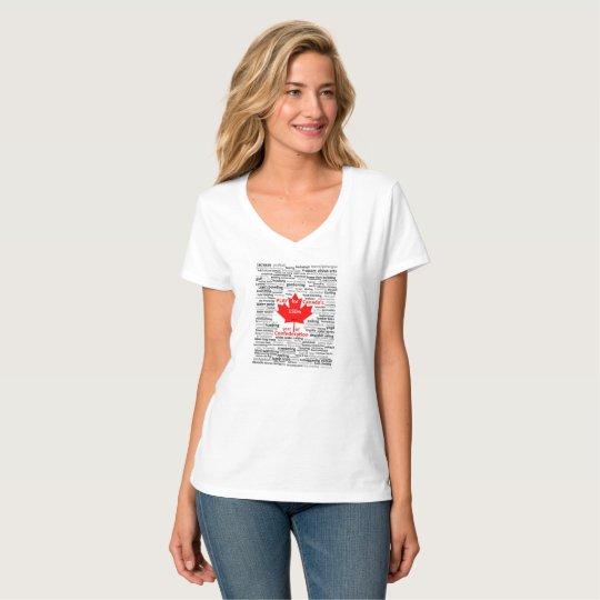 Canada 150 Play List Women's T-shirt