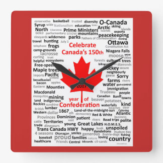 Canada 150 Square clock