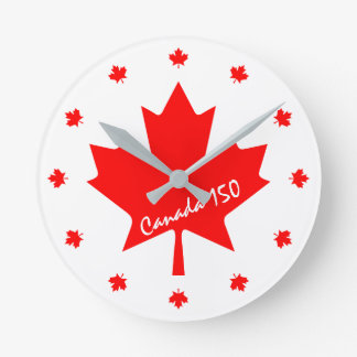 Canada 150 years anniversary one-of-a-kind round clock