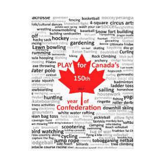 Canada 150th Play List on Canvas Canvas Print