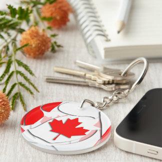 Canada #1 Double-Sided round acrylic key ring