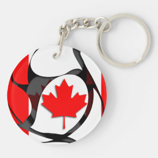 Canada #2 Double-Sided round acrylic key ring
