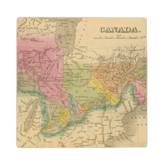 Canada 2 wood coaster
