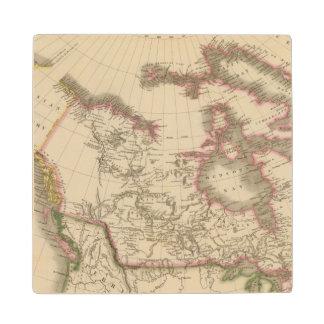 Canada 5 2 wood coaster