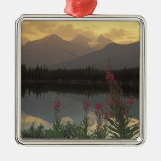 Canada, Alberta, Banff. Sunrise scenic of Silver-Colored Square Decoration