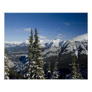 Canada, Alberta, Banff. Views of the Bow Valley Poster