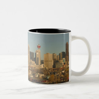 Canada, Alberta, Calgary: City Skyline from 2 Two-Tone Coffee Mug