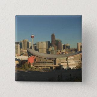 Canada, Alberta, Calgary: City Skyline from 3 15 Cm Square Badge