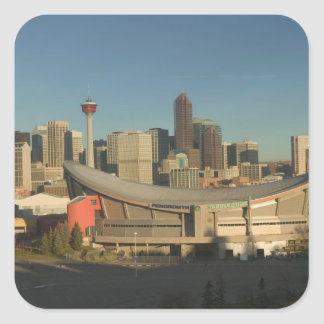 Canada, Alberta, Calgary: City Skyline from 3 Square Sticker
