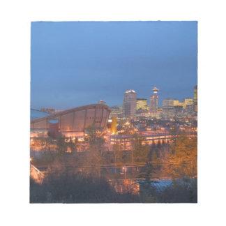 Canada, Alberta, Calgary: City Skyline from 4 Notepads