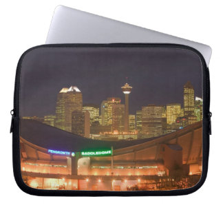 Canada, Alberta, Calgary: City Skyline from Laptop Sleeve