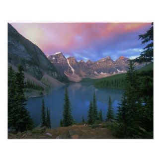 Canada, Alberta, Lake Moraine at Dawn, Banff Poster