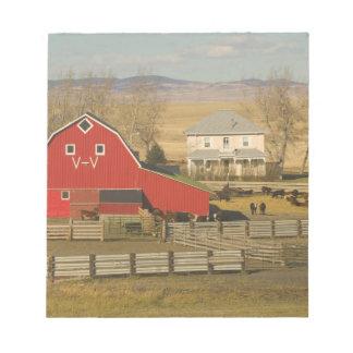 Canada, Alberta, Pincher Creek: Red Barn & Ranch Notepad