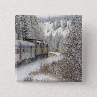 Canada, Alberta. VIA Rail Snow Train between 15 Cm Square Badge