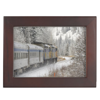 Canada, Alberta. VIA Rail Snow Train between Keepsake Box