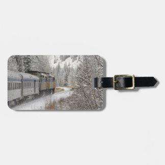 Canada, Alberta. VIA Rail Snow Train between Luggage Tag