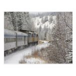 Canada, Alberta. VIA Rail Snow Train between Postcard