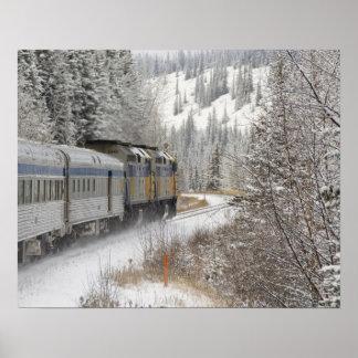 Canada, Alberta. VIA Rail Snow Train between Poster