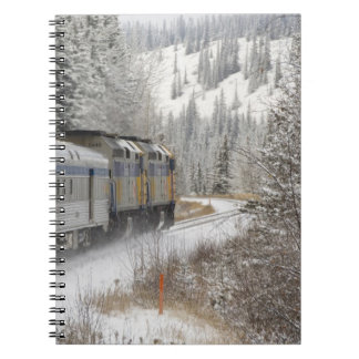 Canada, Alberta. VIA Rail Snow Train between Spiral Notebook