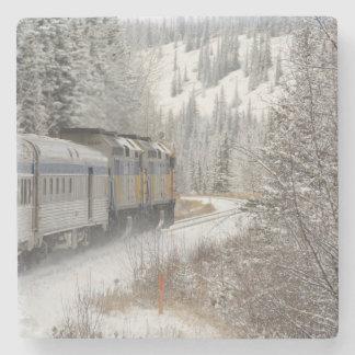 Canada, Alberta. VIA Rail Snow Train between Stone Coaster