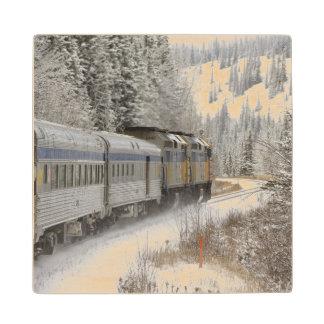 Canada, Alberta. VIA Rail Snow Train between Wood Coaster