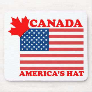 Canada America's Hat Mousepads