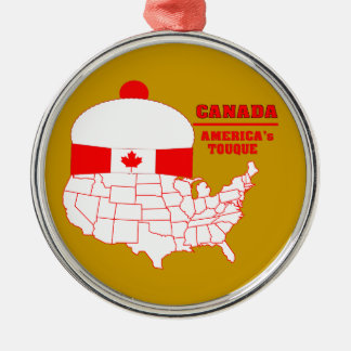 Canada -America's Cool Tuque Christmas Ornament