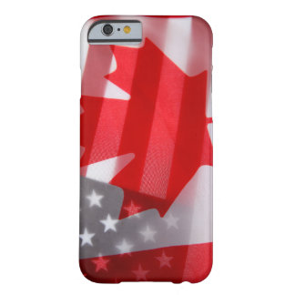 Canada and America flags Barely There iPhone 6 Case
