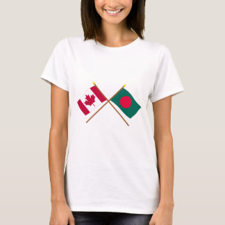 Canada and Bangladesh Crossed Flags T-Shirt