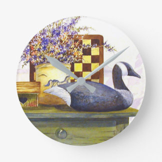 Canada and Checkerboard Country Clock
