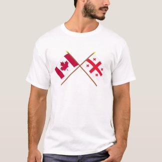 Canada and Georgia Republic Crossed Flags T-Shirt