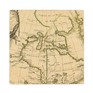 Canada and Greenland Wood Coaster