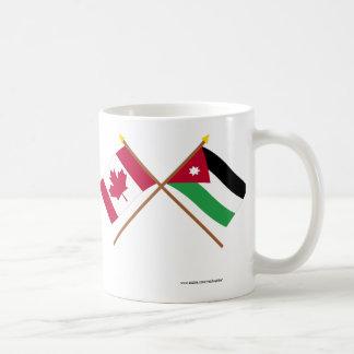 Canada and Jordan Crossed Flags Coffee Mug
