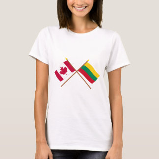 Canada and Lithuania Crossed Flags T-Shirt