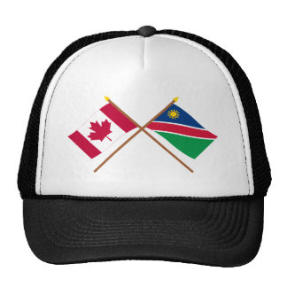 Canada and Namibia Crossed Flags Hats