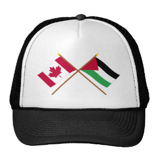 Canada and Palestinian Movement Crossed Flags Cap