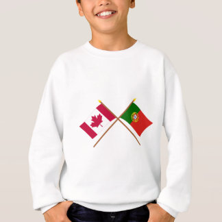 Canada and Portugal Crossed Flags Sweatshirt