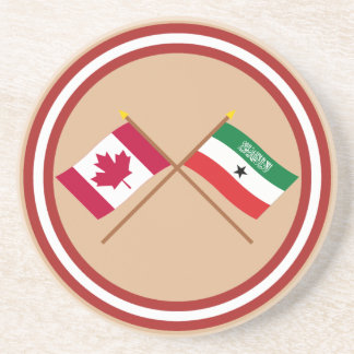 Canada and Somaliland Crossed Flags Coaster