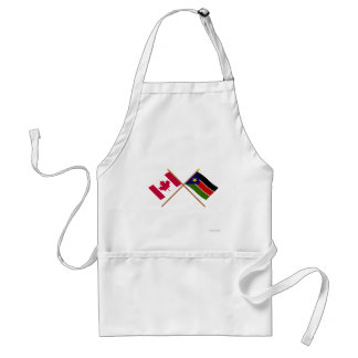 Canada and Southern Sudan Crossed Flags Aprons