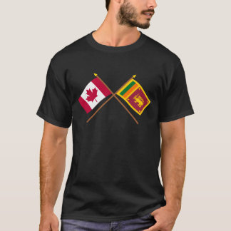 Canada and Sri Lanka Crossed Flags T-Shirt