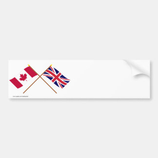 Canada and the United Kingdom Crossed Flags Bumper Sticker