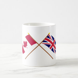 Canada and the United Kingdom Crossed Flags Coffee Mug